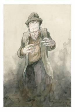Drawing zeichnung Tom Waits by jörg hartmann