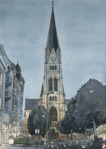 Kreuzkirche zeichnung