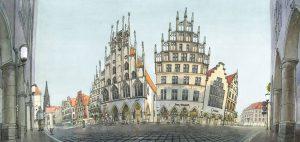 Zeichnung Bild Prinzipalmarkt Münster Aquarell