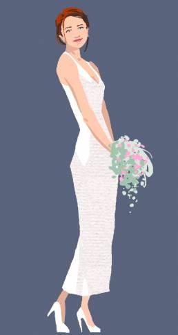 braut Hochzeit illustration